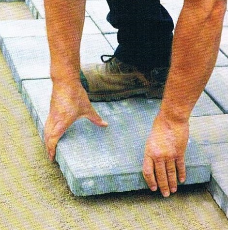 laying a paver